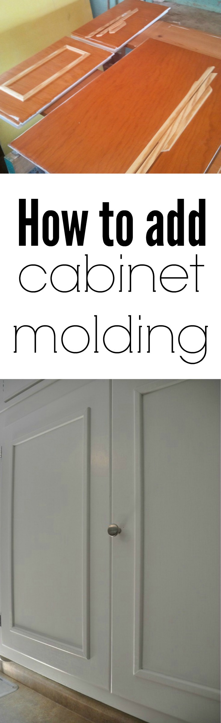 Add Molding to Old Cabinets