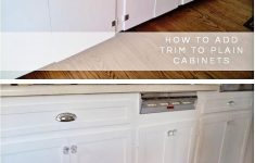 Adding Trim To Cabinet Doors Unique Kitchen Cabinets Makeover