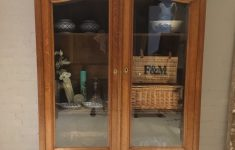 Antique Cabinets With Glass Doors Elegant Stunning Antique French Oak Armoire Wardrobe Display Cabinet Glass Doors