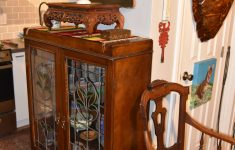 Antique Cabinets With Glass Doors New Antique China Cabinet With Stained Glass Doors