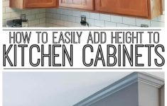 Applying Wood Trim To Old Kitchen Cabinet Doors Beautiful How To Easily Add Height To Your Kitchen Cabinets