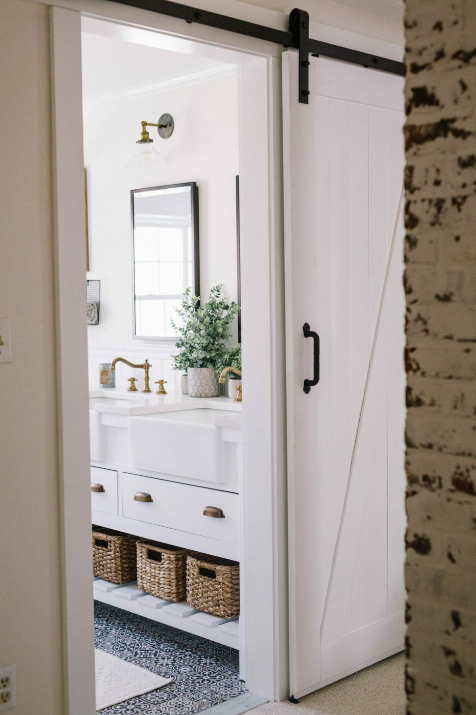 bathroom barn door fascinating lowes vanity mirror sliding cabinet hardware for diy farmhouse makeover – lynzy 970x1455