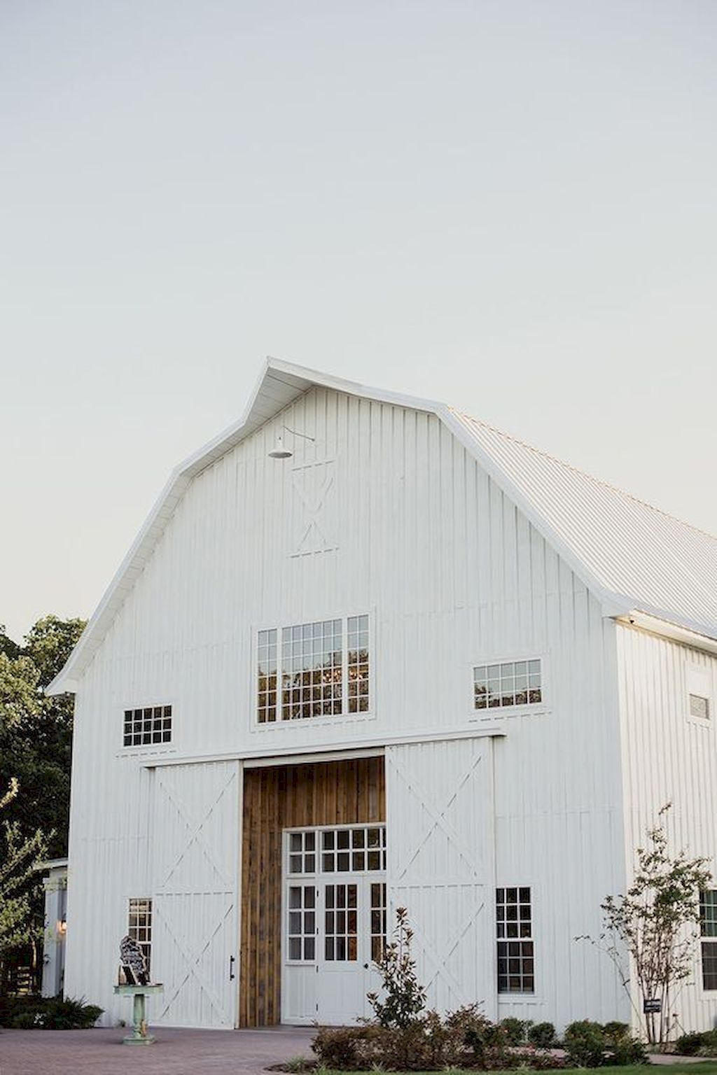 White painted Barn Exterior