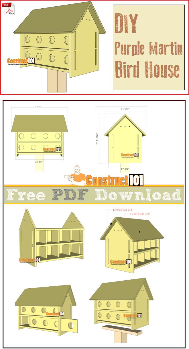 93a967d b2ce3b8180 martin house diy diy purple martin house