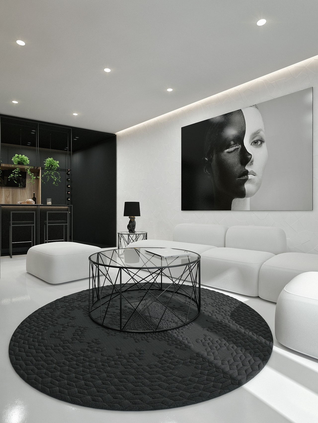 Black And White Interior Design Ideas Modern Apartment by ID White on Architecture Beast 03 min