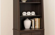 Bookshelf Cabinet With Doors Best Of Espresso Tall Slant Back Bookcase With 2 Shaker Doors