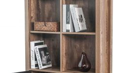 Bookshelf Cabinet With Doors Luxury Bahom Bookcase Storage Shelves Retro Bookshelf With Doors 4 Tier Cabinet For Books S And Decorations