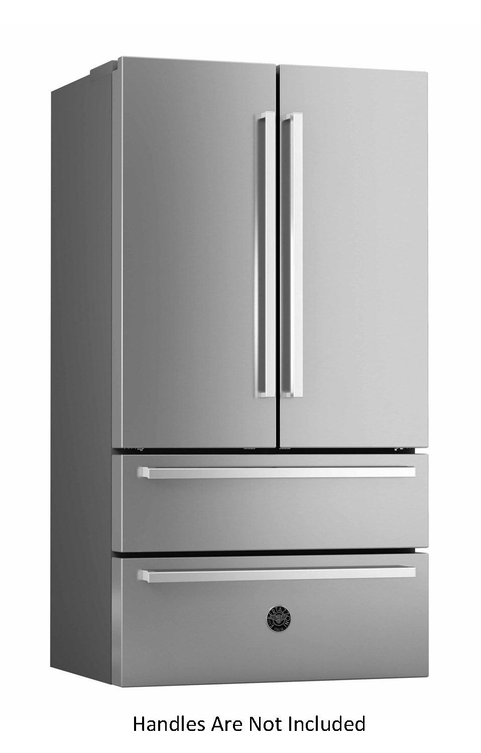 Bertazzoni 36 Stainless Steel Counter Depth French Door Refrigerator REF36X17