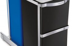 Cabinet Door Trash Can Elegant Simplehuman 35 Liter 9 3 Gallon Dual Partment Under Counter Kitchen Cabinet Pull Out Recycling Bin And Trash Can