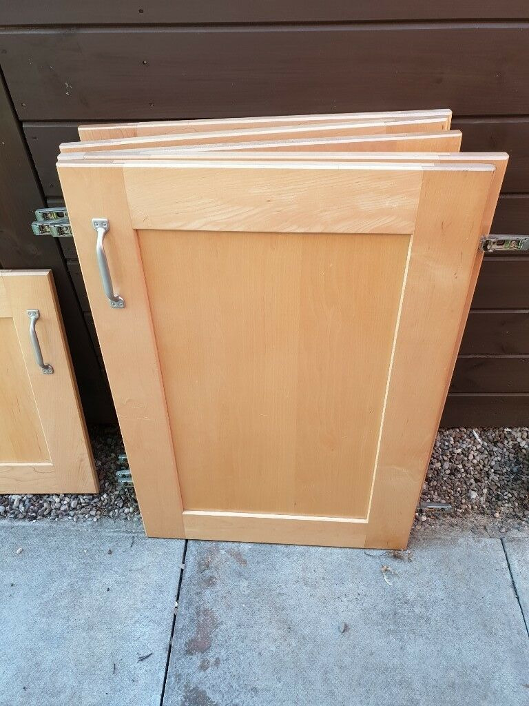 Cabinet Doors and Drawer Fronts New solid Wood Maple Kitchen Cabinet Doors & Drawer Fronts In Glen Parva Leicestershire
