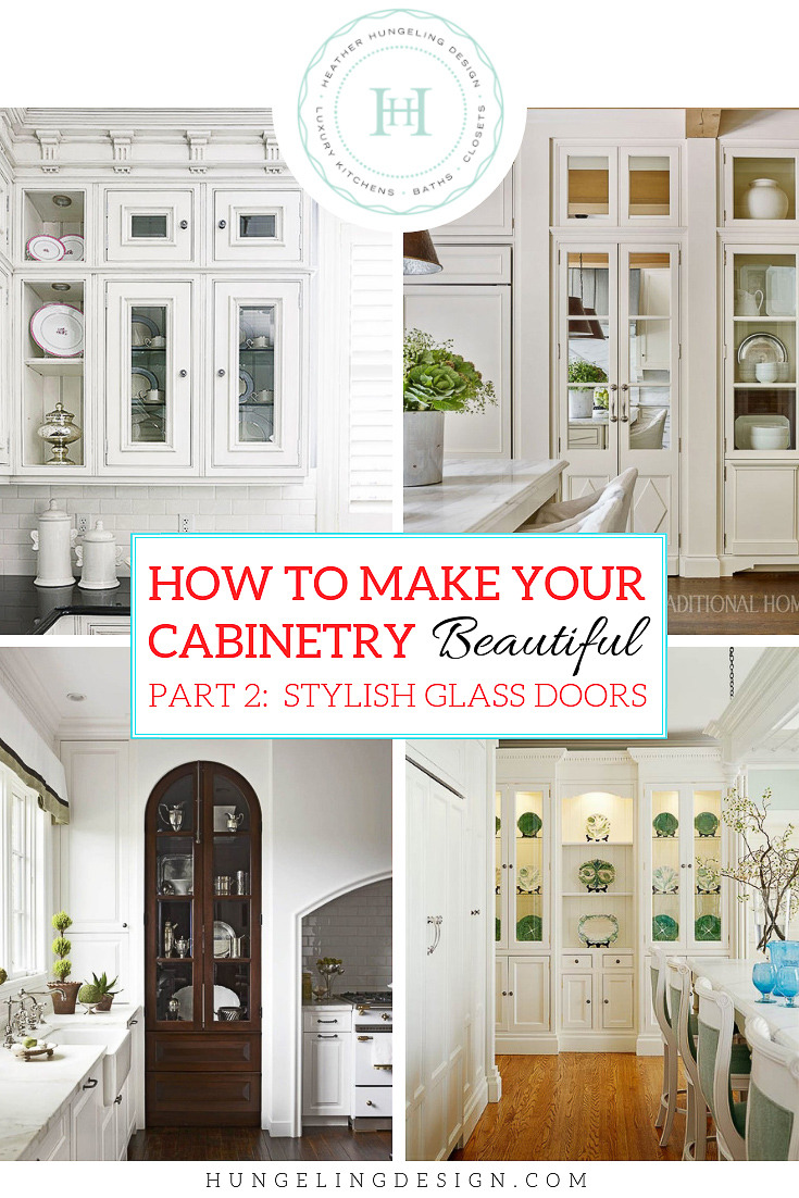 how to make kitchen beautiful with glass cabinet doors 2