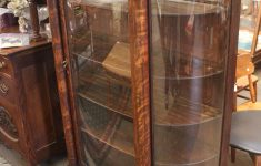 China Cabinet Glass Doors Awesome When Should You Refinish An Antique … Two Oak Curved Glass