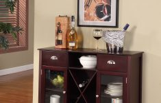 Console Cabinet With Doors Inspirational Bryson Dark Cherry Wood Contemporary Wine Rack Sideboard Display Console Table With Storage Drawers Shelf & Glass Cabinet Doors