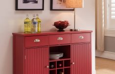 Console Cabinet With Doors New Oscar Red Wood Contemporary Wine Rack Sideboard Buffet Display Console Table With Storage Drawers Cabinet Doors & Shelf Walmart