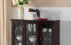 Console Cabinet With Doors Unique Logan Sideboard Buffet Black Wood & Glass
