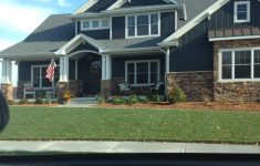 Dark Brown House Colors Best Of Love The Dark Blue Siding Dark Brown Brick And White
