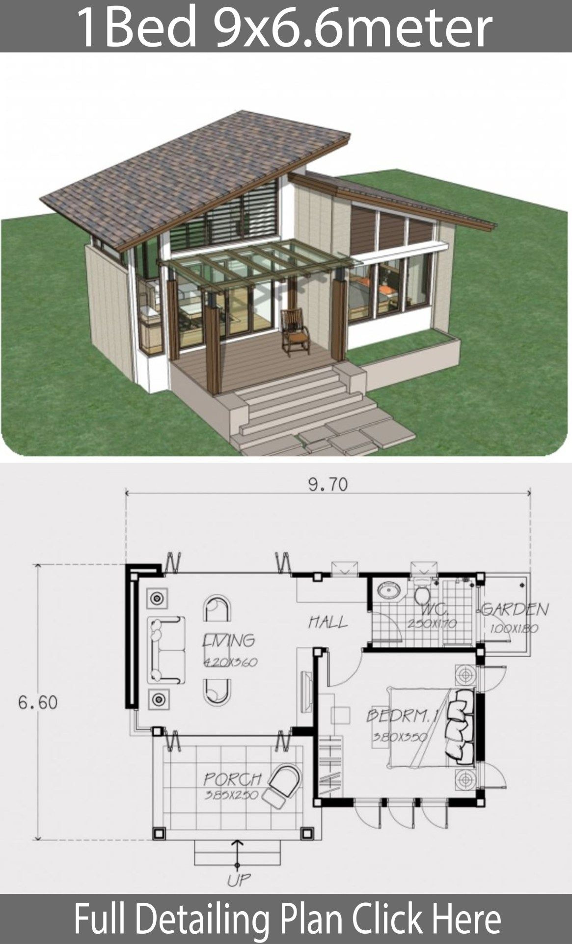 Design Small House Plans Luxury Small Home Design Plan 9x6 6m with One Bedroom
