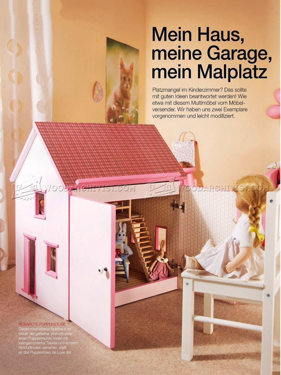 Doll House Plans Wood New Wooden Doll House Plans • Woodarchivist