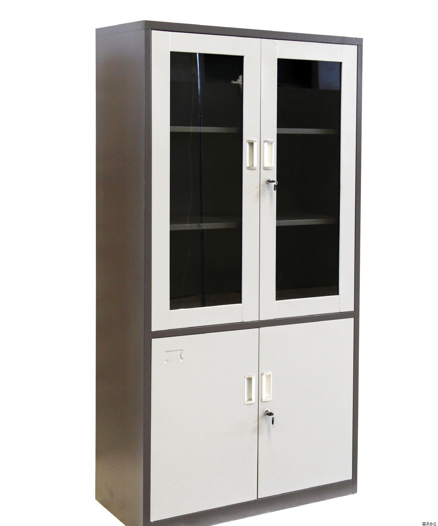 fice Furniture up Glass Door Stainless Steel Master File Cabinets