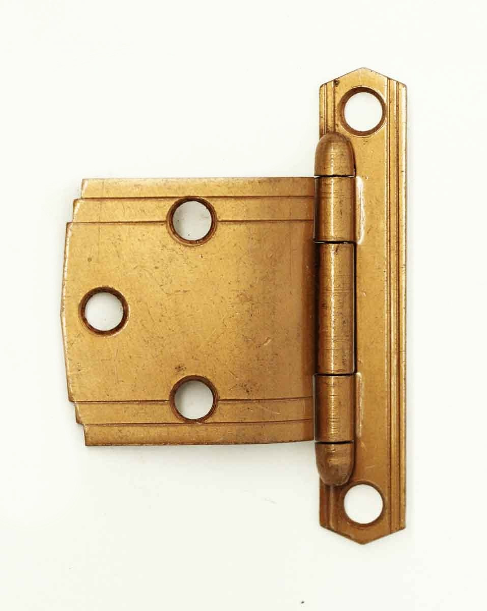 art deco copper finish 2 75 x 2 offset cabinet hinge