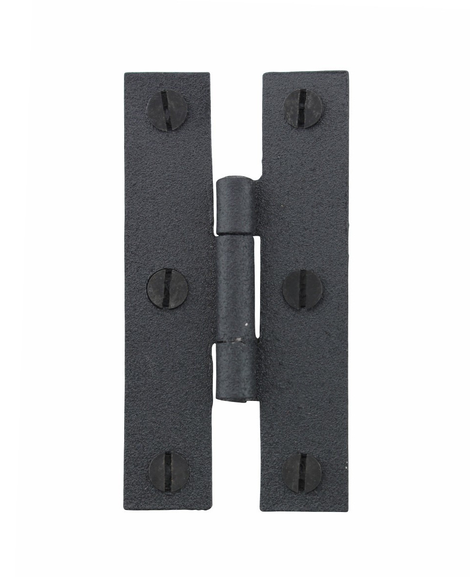 24 hinge black wrought iron h hinge flush hinge 3 in