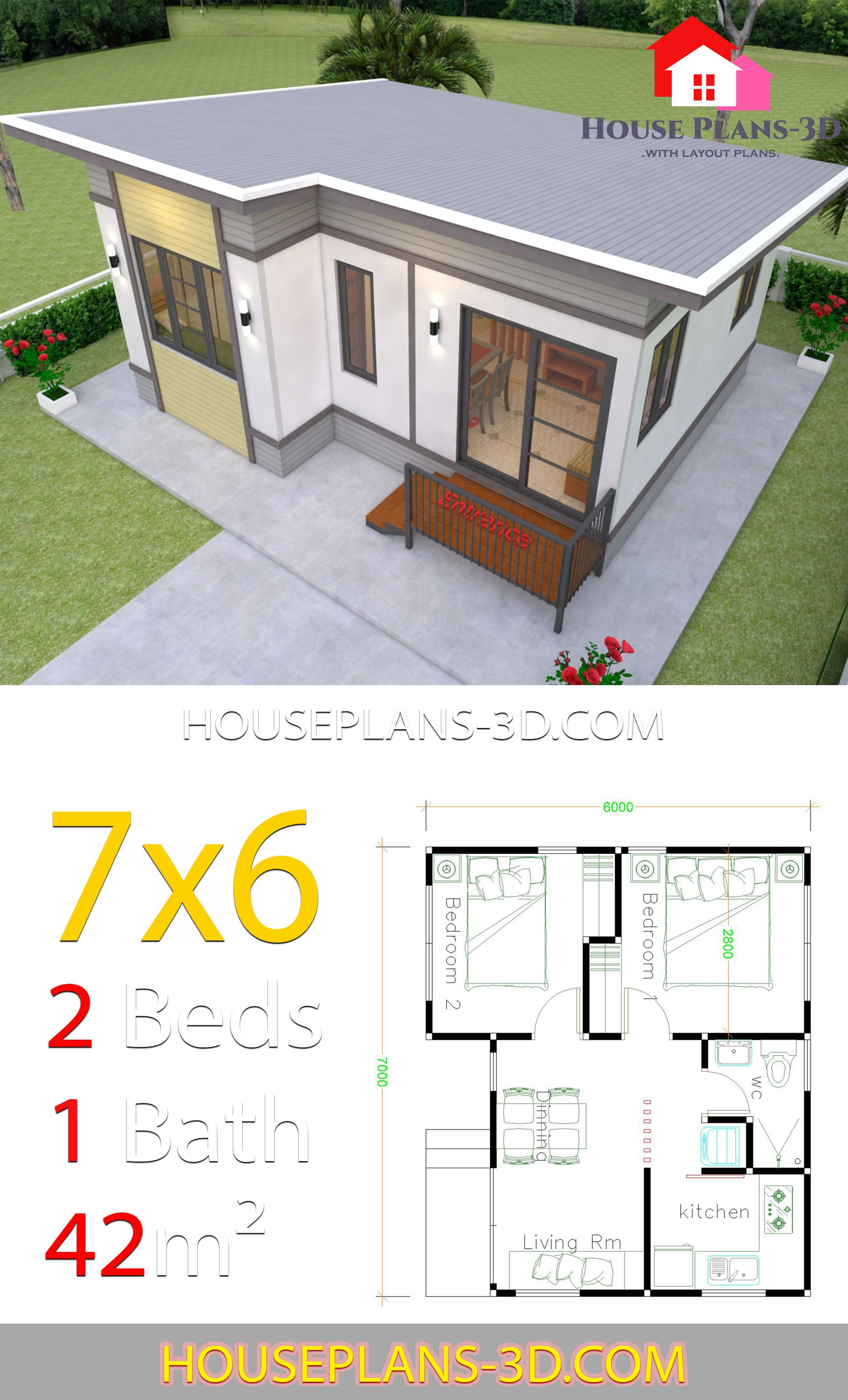 House Pictures and Plans Unique Small House Plans 7x6 with 2 Bedrooms House Plans 3d