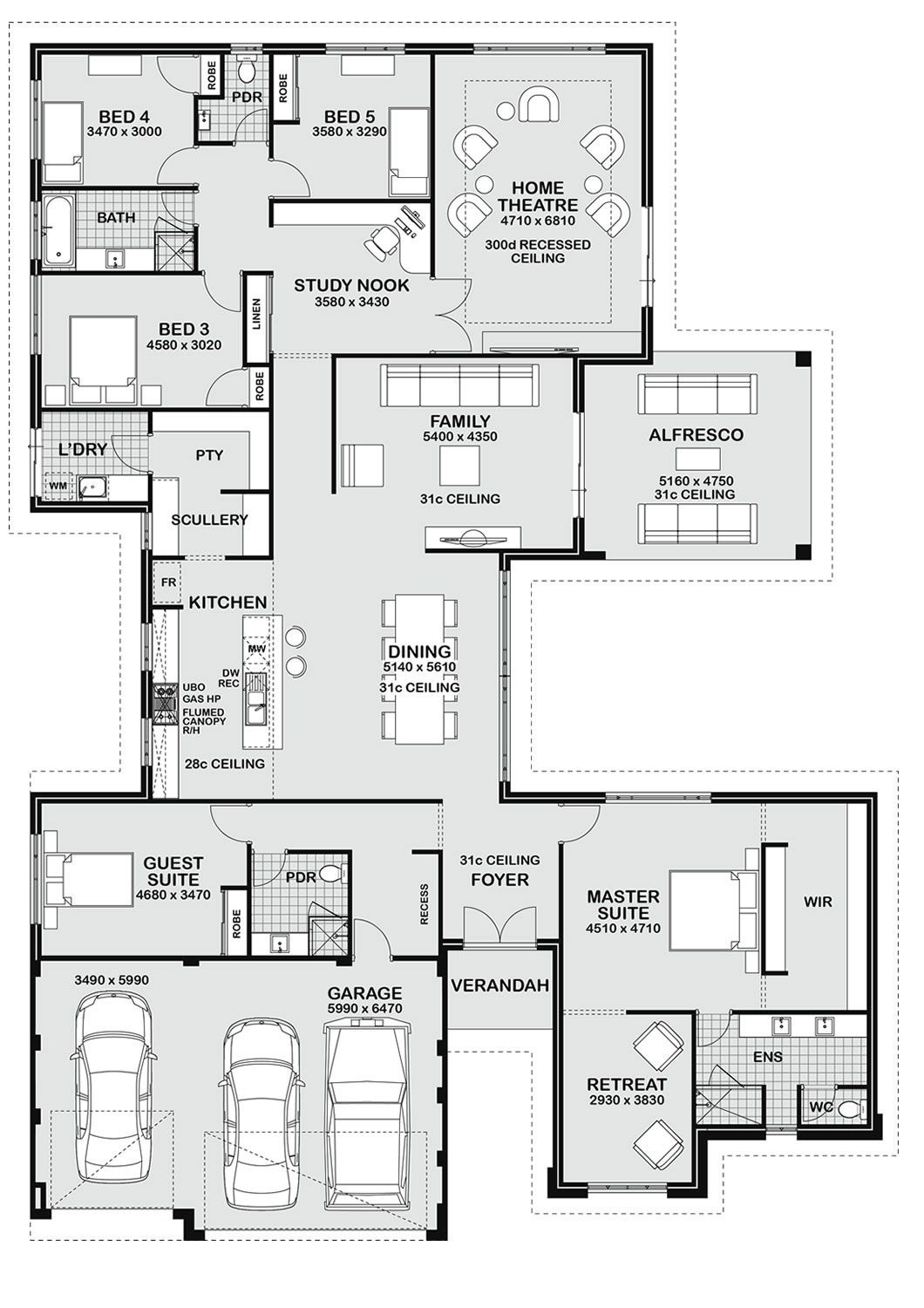 House Plans for Building Unique Floor Plan Friday 5 Bedroom Entertainer
