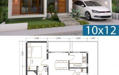 House Plans With Floor Plans Awesome 3 Bedrooms Home Design Plan 10x12m