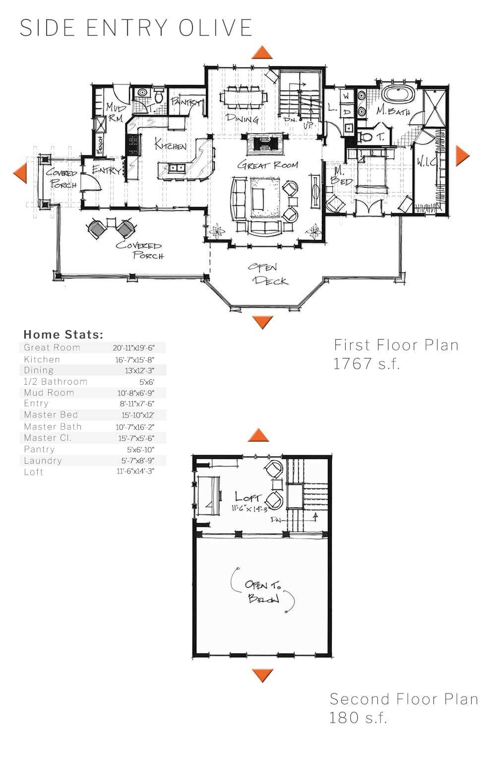timber frame floor plan side olive
