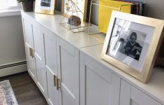 Ikea Storage Cabinets With Doors Awesome Ikea Brimnes Cabinets With Gold Pulls