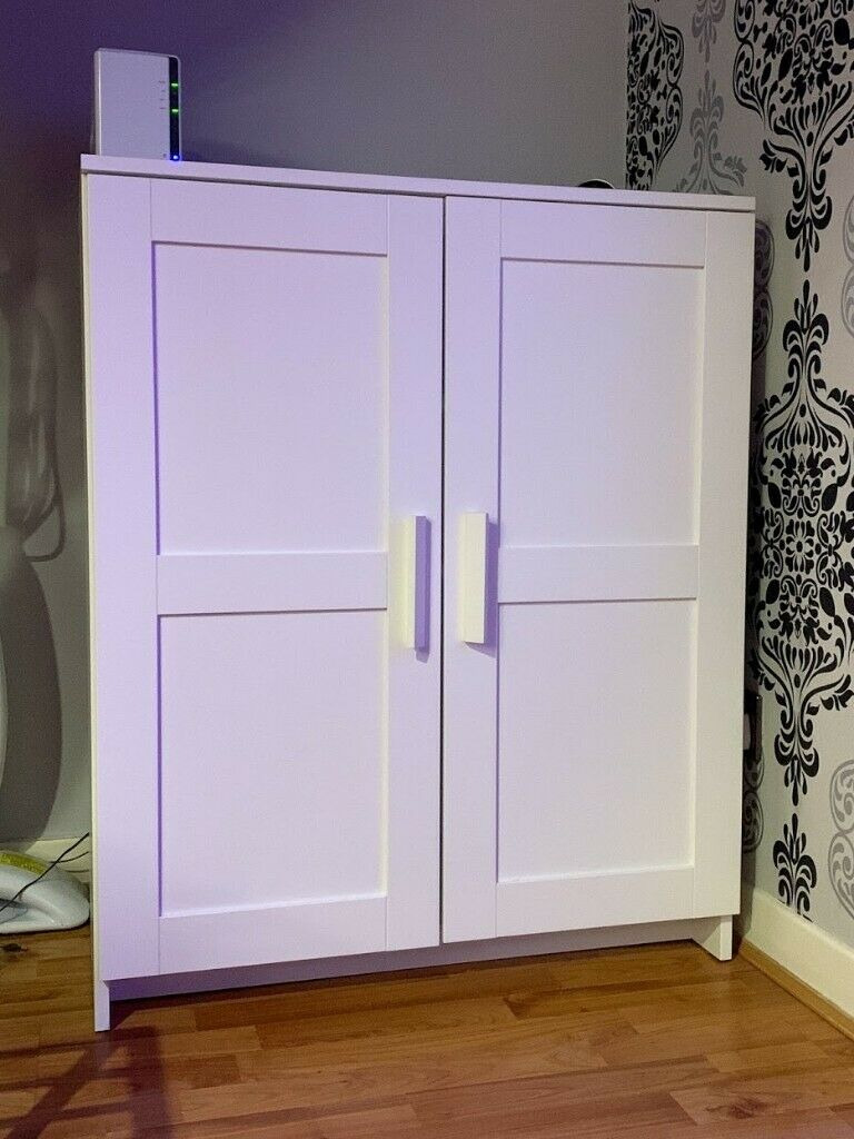 Ikea Storage Cabinets with Doors Awesome Ikea White Wooden Brimnes Storage Livingroom Cabinet with Doors In Cardonald Glasgow