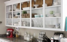 Kitchen Cabinets Without Doors Awesome Removing Kitchen Cabinet Doors For Open Shelving Cabinets No