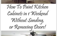 Kitchen Cabinets Without Doors Beautiful How I Painted My Kitchen Cabinets Without Removing The Doors