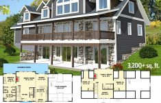 Lake Lot House Plans Awesome Plan Gh 3 Bed Sloping Lot House Plan With Grand Rear