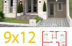 Model House Design Pictures Inspirational House Design 9x12 With 2 Bedrooms Full Plans In 2020