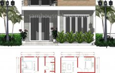 Model House Design Pictures Lovely House Plans 6x9m With 3 Bedrooms In 2020