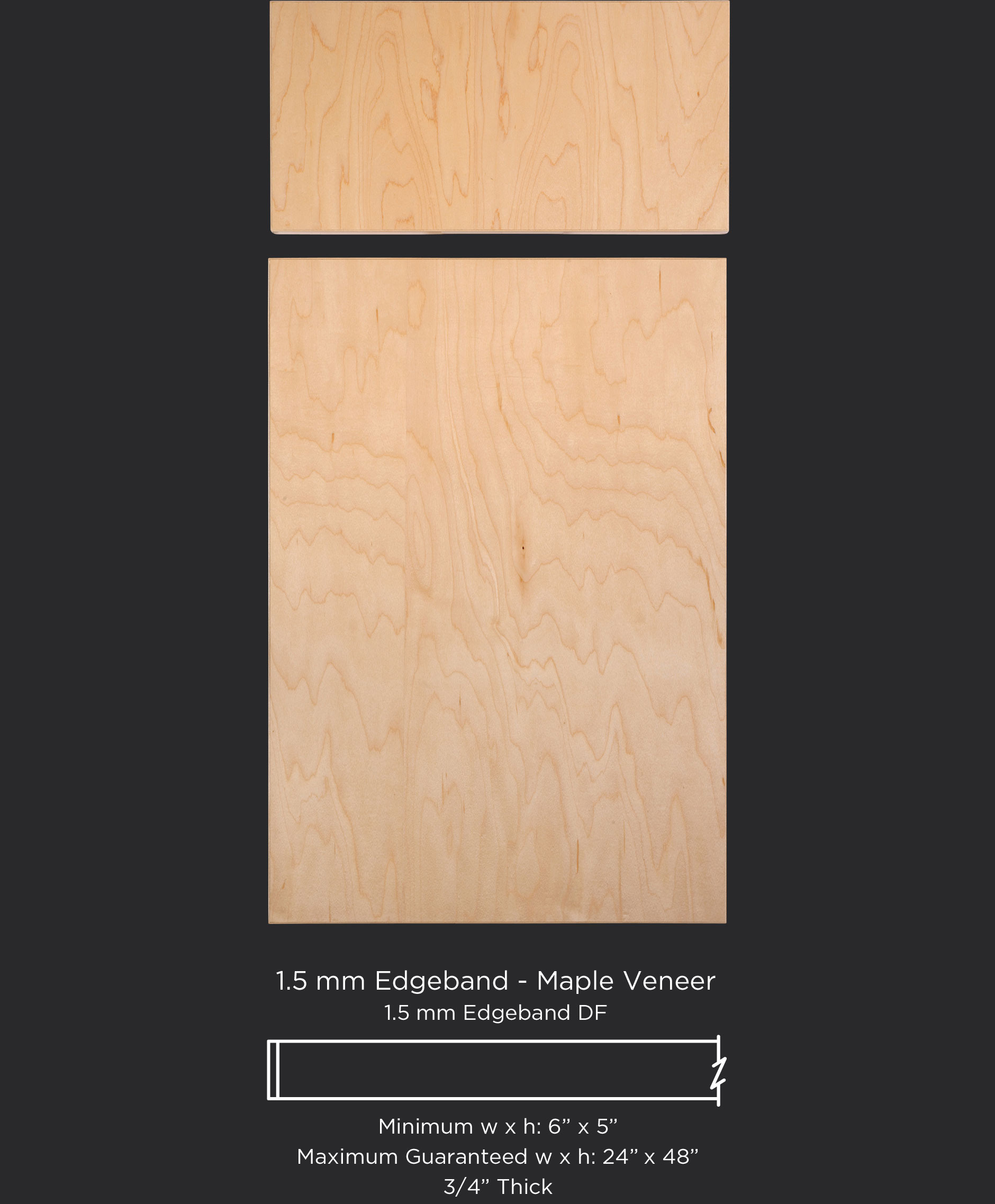 1 5mm EB Maple veneer
