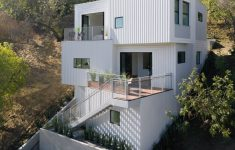 Modern Hillside House Designs New Stacked Boxes Form An Experimental Hillside House Dwell