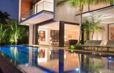 Modern House Design With Swimming Pool New A New Modern Waterfront Home Arrives In Miami