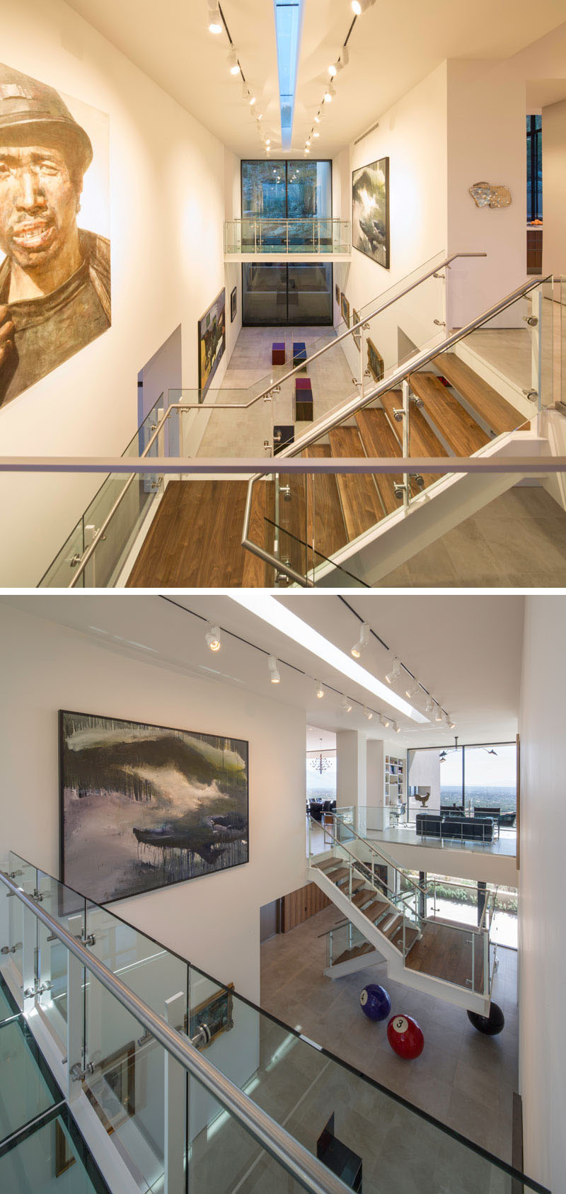 modern house wood stairs art gallery 1042 04