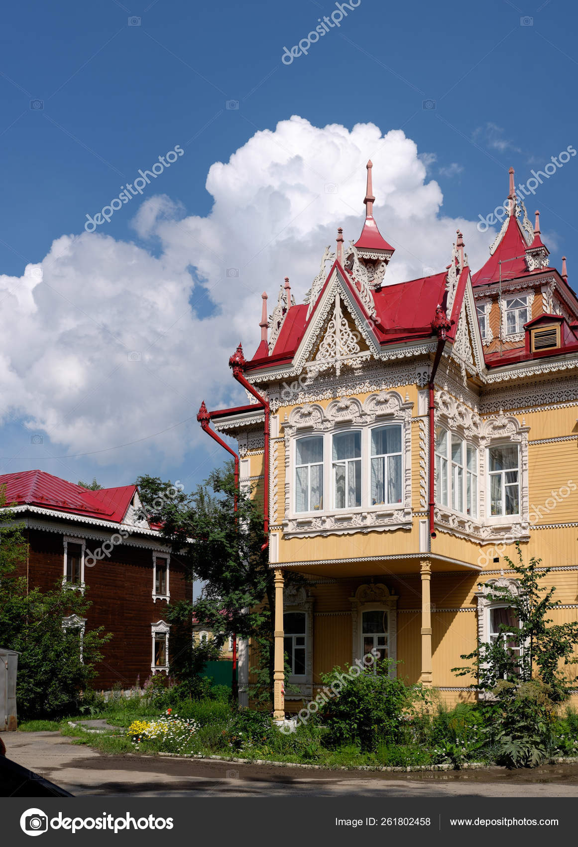 depositphotos stock photo one most beautiful wooden houses