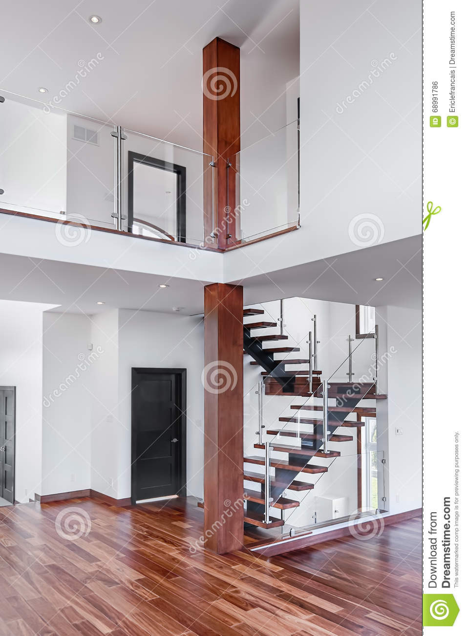 contemporary mahogany stairs new house post gallery