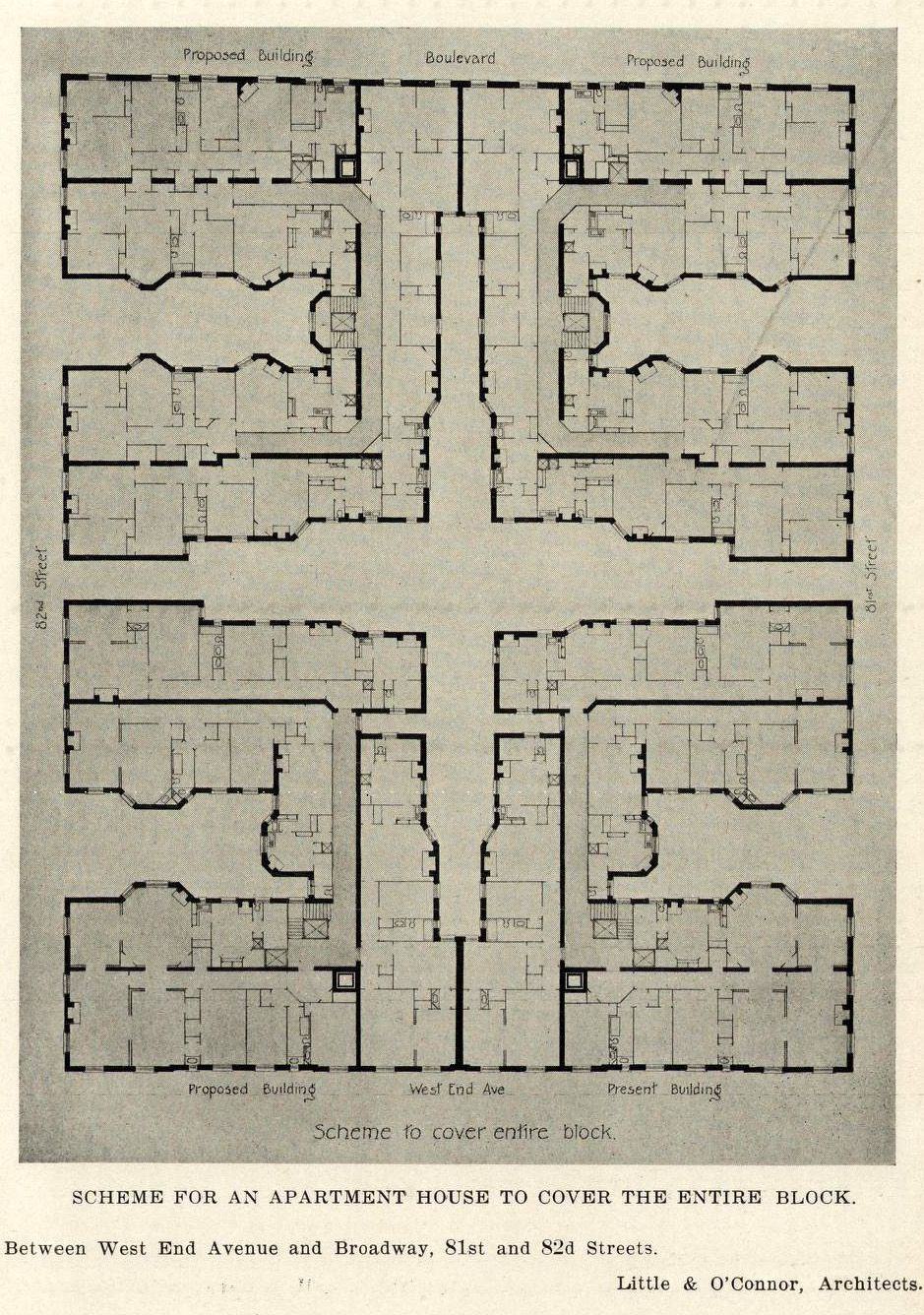 New York House Plans Inspirational Floor Plan for An Apartment Building New York City Archi