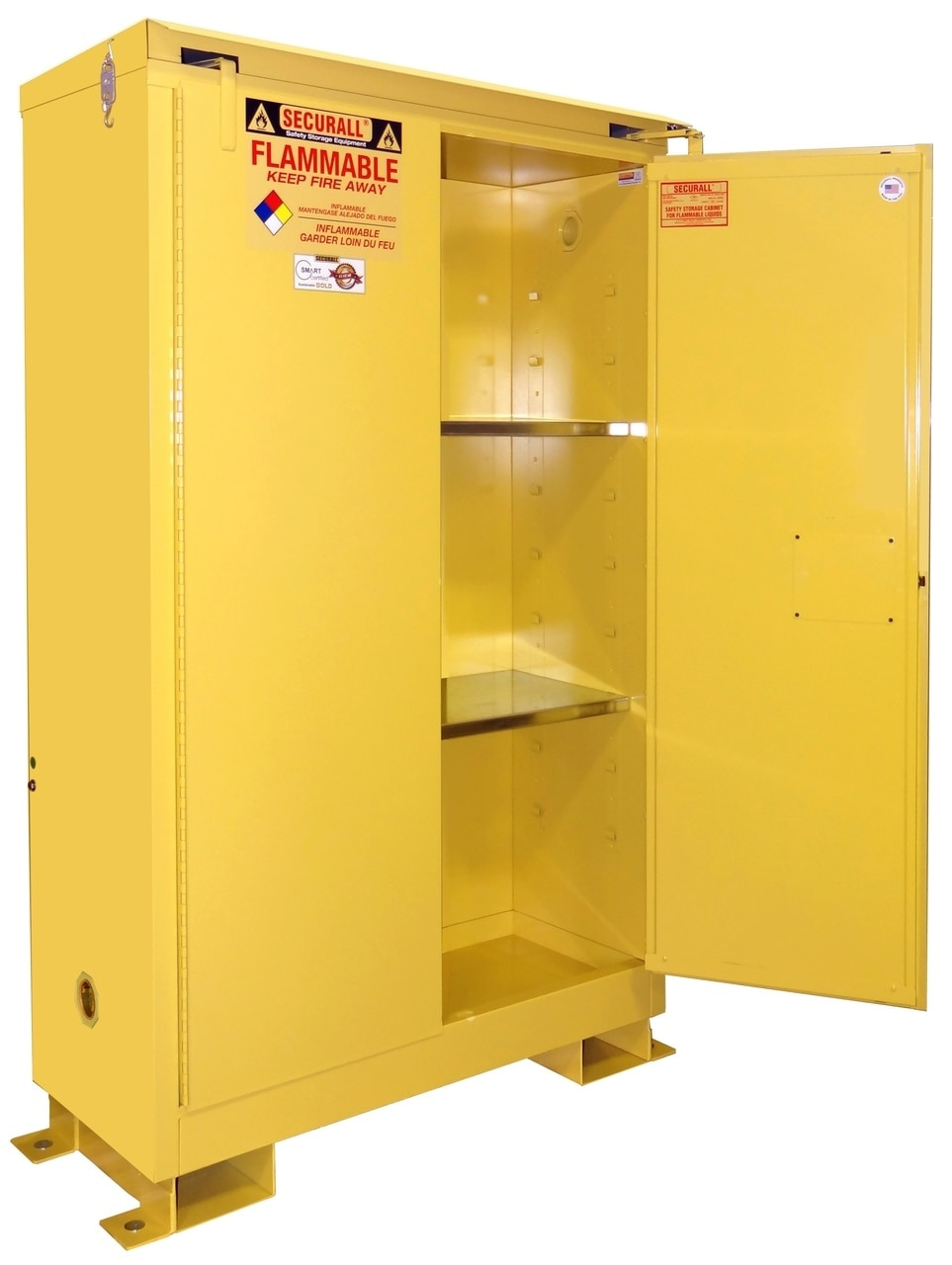 Securall Outdoor Safety Cabinet 45 Gal Self Latch Safe T Doors