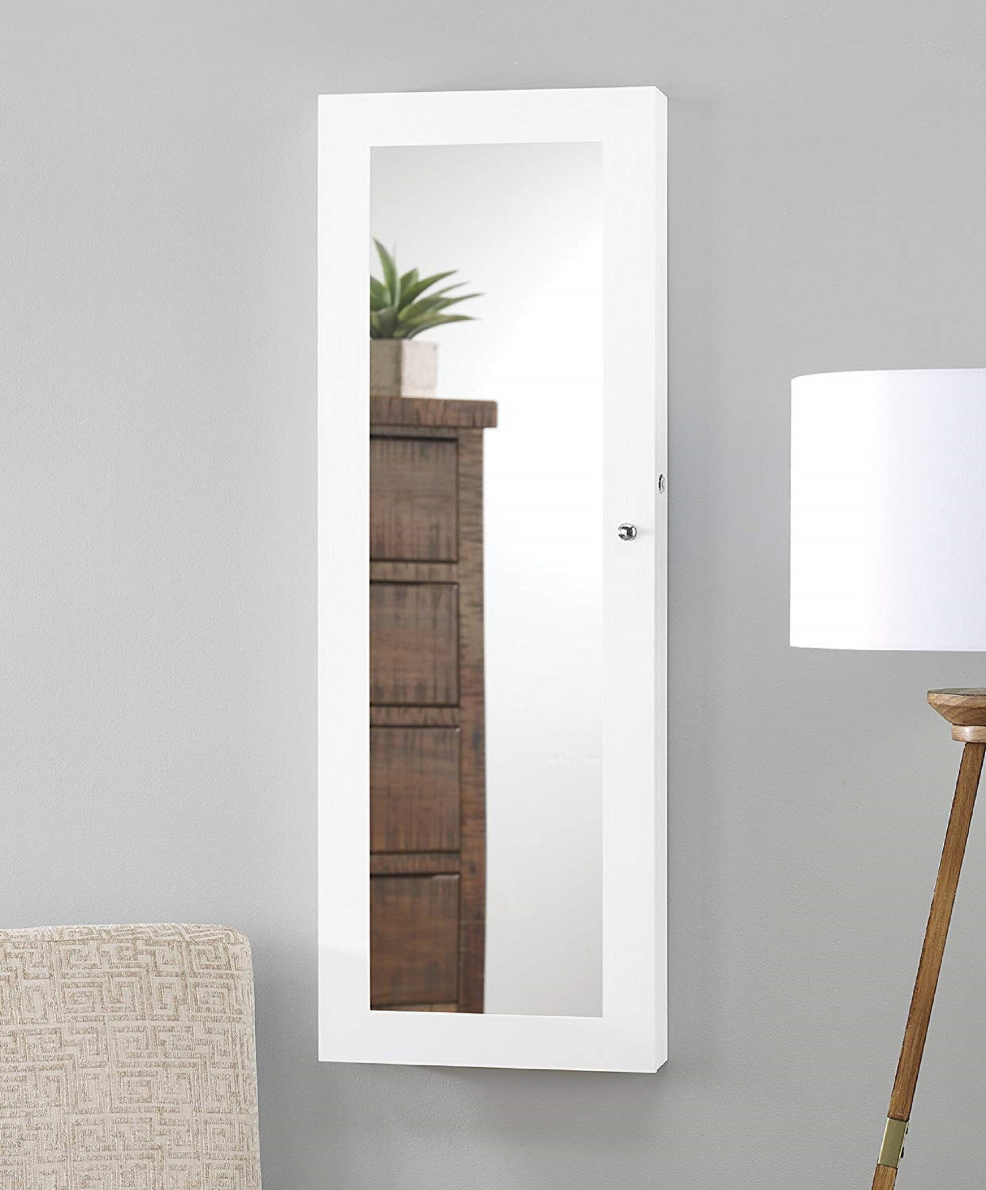 Over the Door Cabinet Awesome Massimo Mirrored Over the Door Jewelry Armoire with Mirror