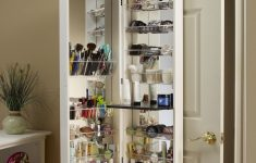 Over The Door Cabinet Beautiful Awesome Behind The Door Makeup Organizer