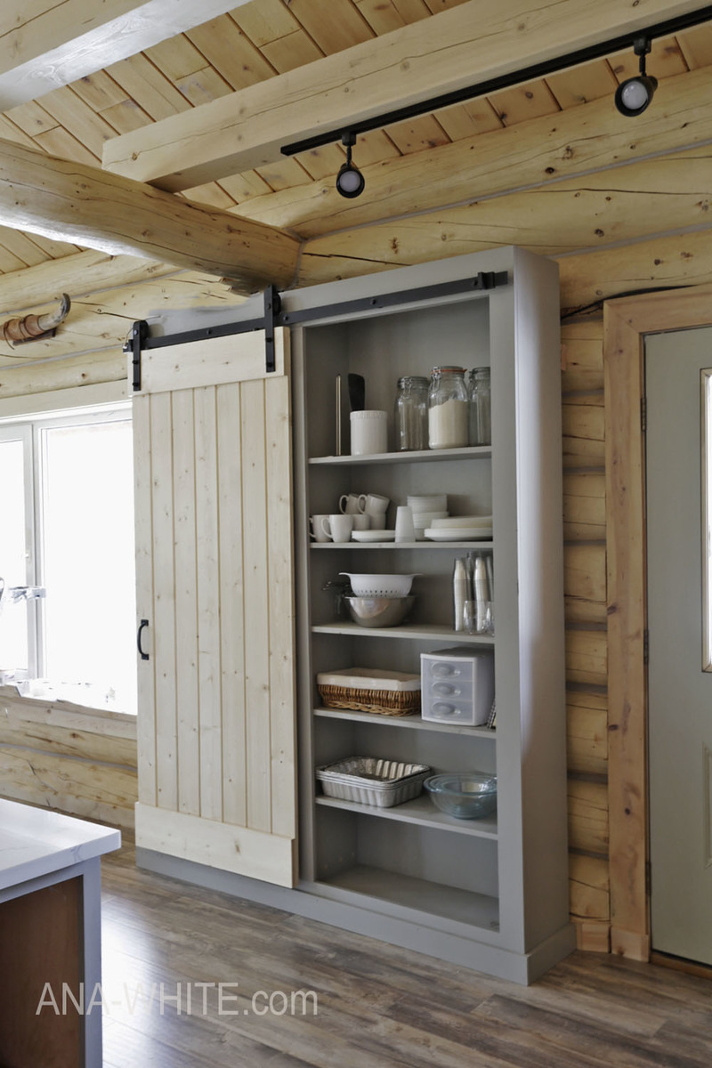barn door pantry ana white plan02
