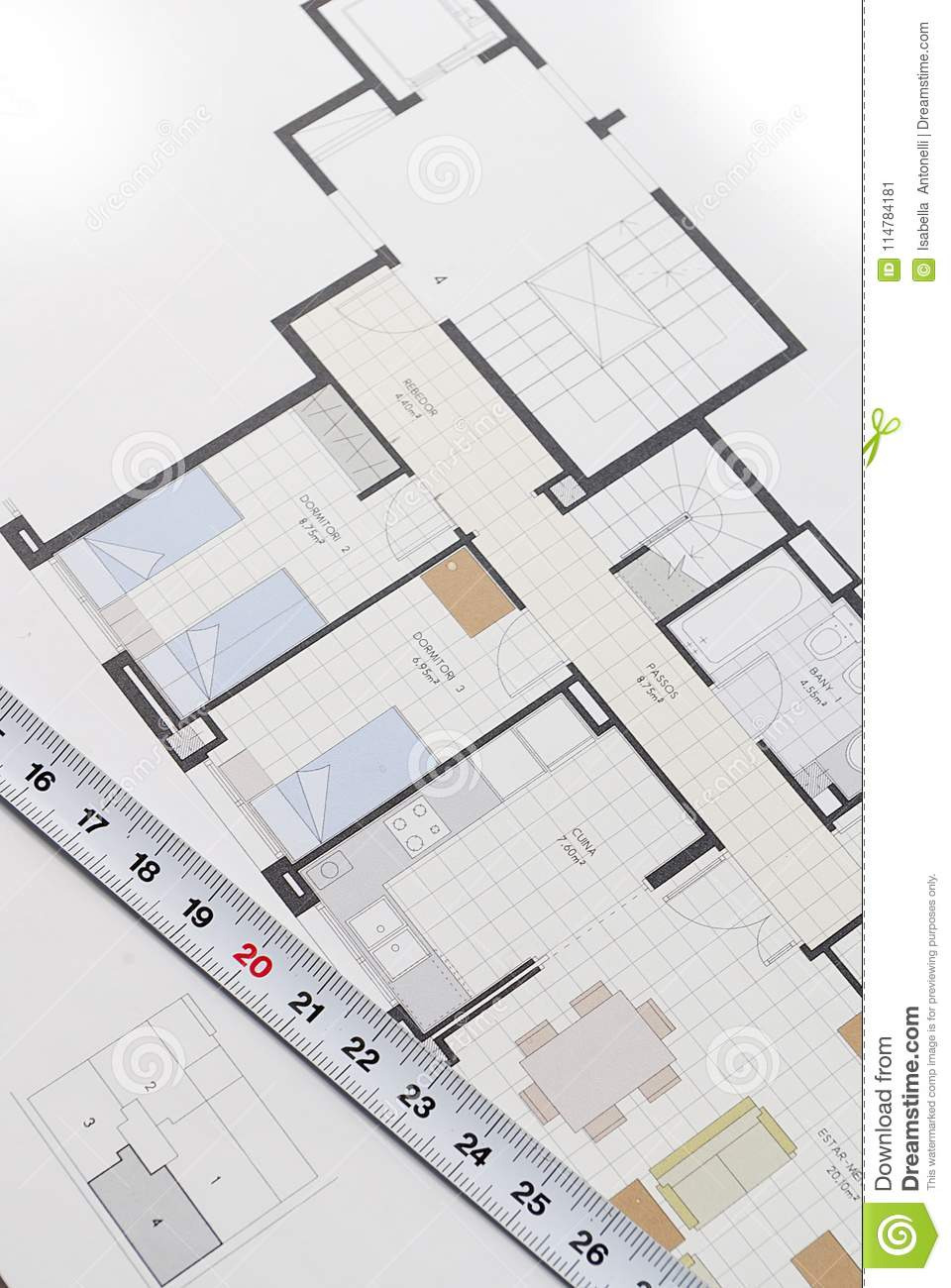 Plan for Building A House Inspirational Architectural Plan for Building A House Stock Image Image