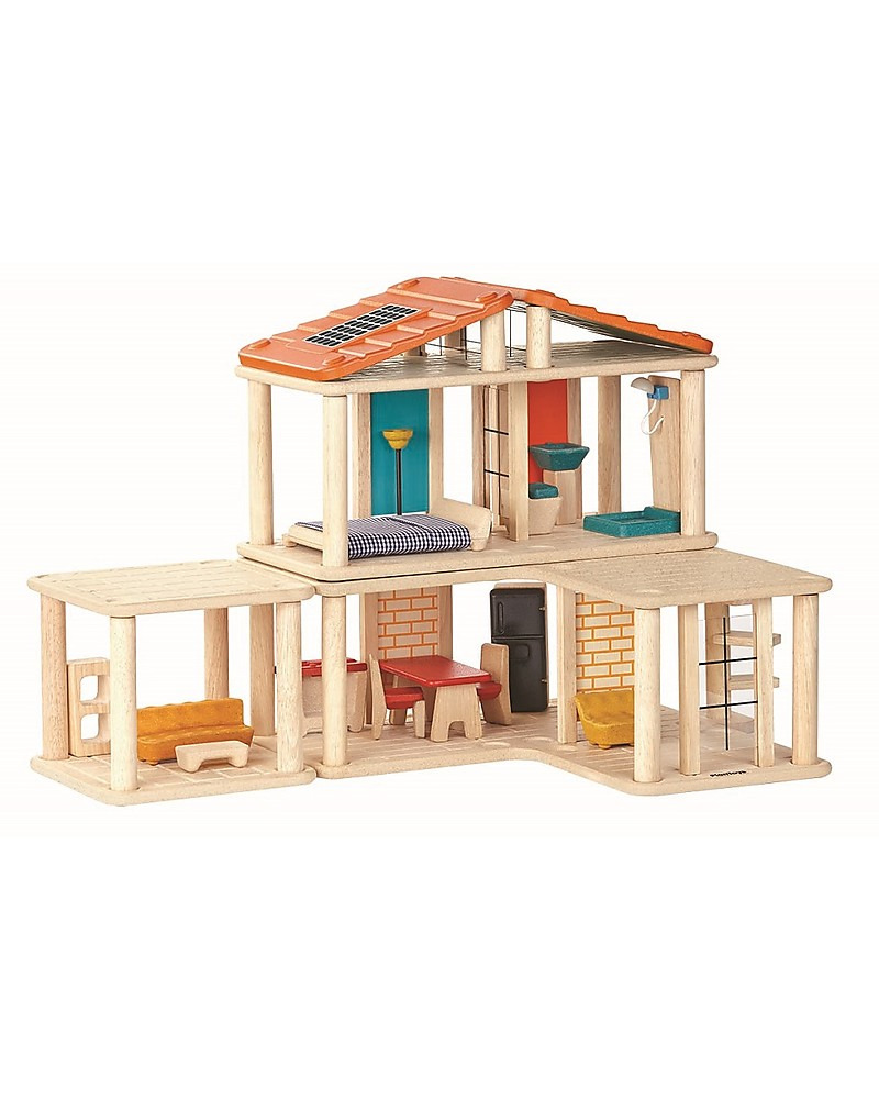 Plan toys Play House Beautiful Plantoys Wooden Creative Play House Includes 28 Pieces Girl