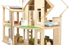Plan Toys Wooden Doll House New Plan Toys Green Dollhouse At John Lewis & Partners
